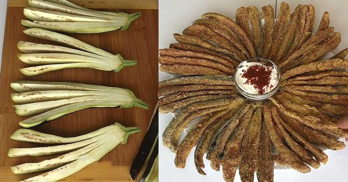 Mısır Unlu Çıtırında Patlıcan Kızartması Tarifi