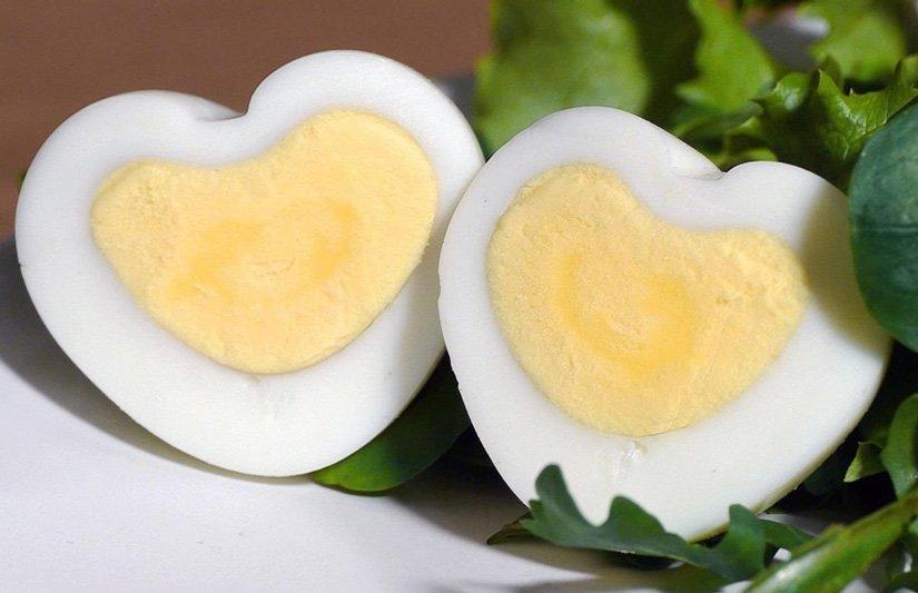 haslanmis yumurta kalp