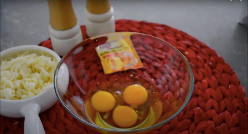 3 adet yumurta