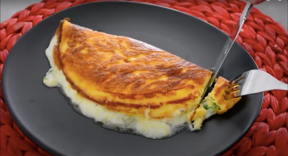 omletten bir dilim