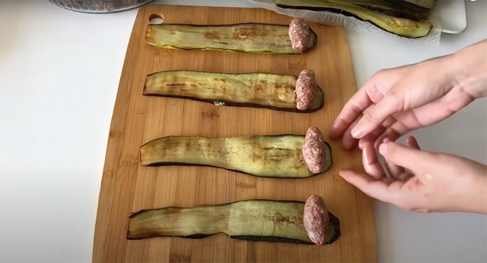 patlıcana köfte sarma