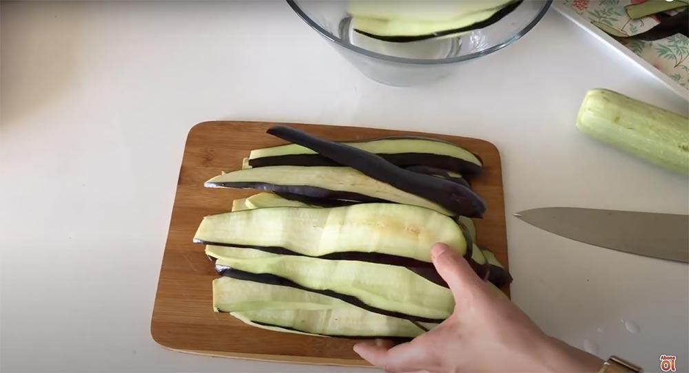 patlıcanları incelttim