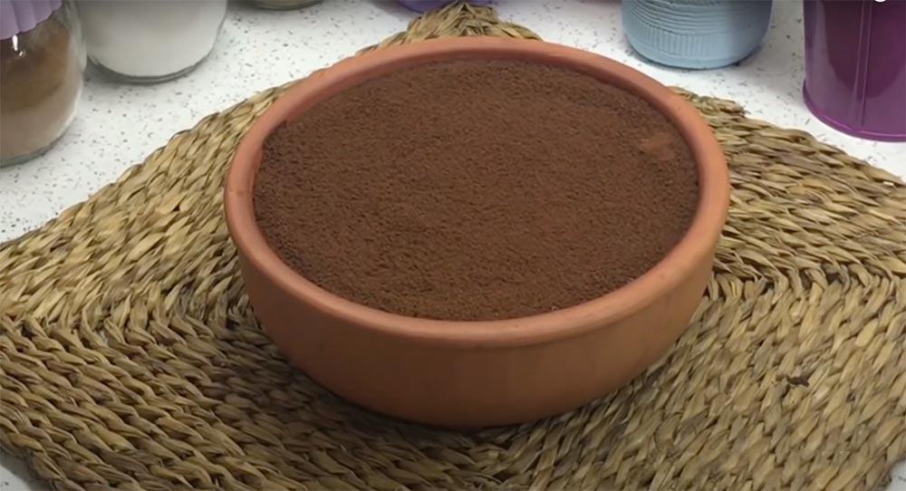 üzerine kakao döküyoruz