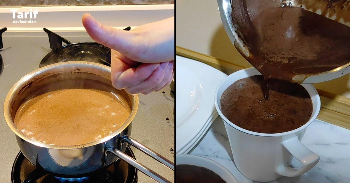 Evde Pratik Orjinal Sıcak Çikolata Tarifi Nasıl Yapılır?